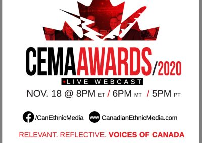Canadian Ethnic Media Association Announces 42nd Annual Award Winners for Journalistic Excellence