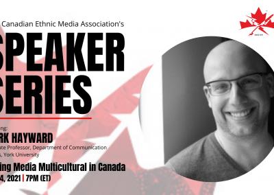 CEMA's upcoming Speakers Bureau to feature York University's Mark Hayward