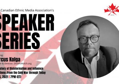 CEMA's May Speaker Series to feature Marcus Kolga