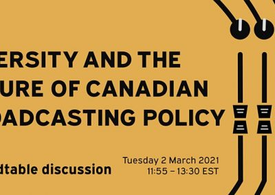VIDEO: Diversity and the Future of Canadian Broadcasting Policy
