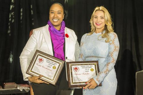 WEB CEMA Hon Jill Andrew MPP and Radio winner Vasiliki Carathanassis (with Adonia Tsakalas not present) DNG 20181109 1398
