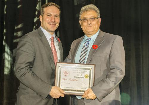 WEB CEMA Hon Marco Mendicino, MP, and Stan Papulkas Doc Award DNG 20181109 1395