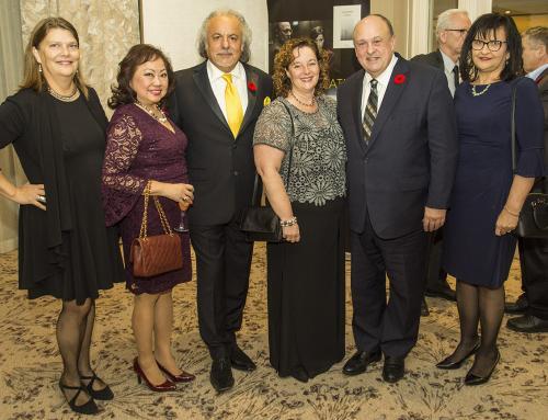WEB CEMA Suzan Ayscough, Sharifa Khan, Kiu Rezvanifar, Karen Thorne-Stone(Ontario Creates CEO), Hon Michael Tibollo, Silvana Tibollo DNG 20181109 1297