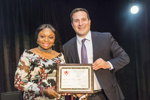 Print Award Gertrude Ngozi Ugoh Marco Mendicino, Minister of Immigration Refugees and Citizenship 20191115 0756